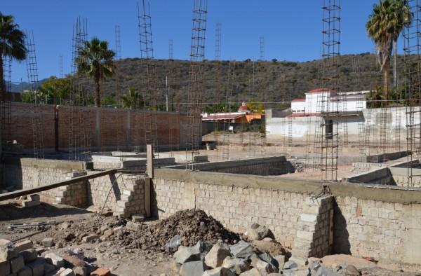 New church building foundation in Ajijic - Chapala