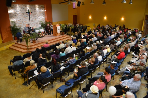 It was a full house at the Grand Opening Dedication Worship Service.
